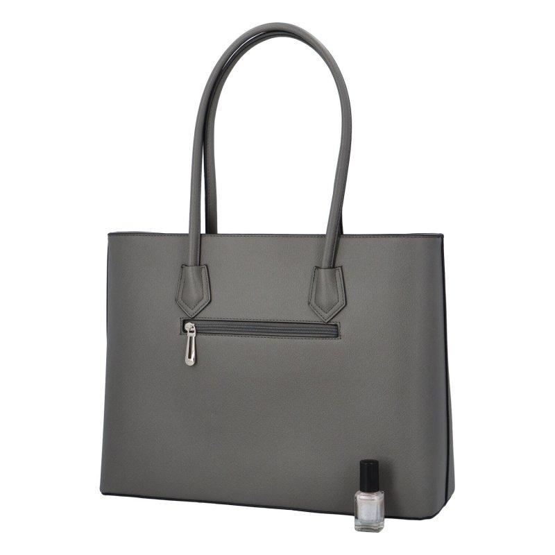 Dámská koženková taška Cloe, šedá
