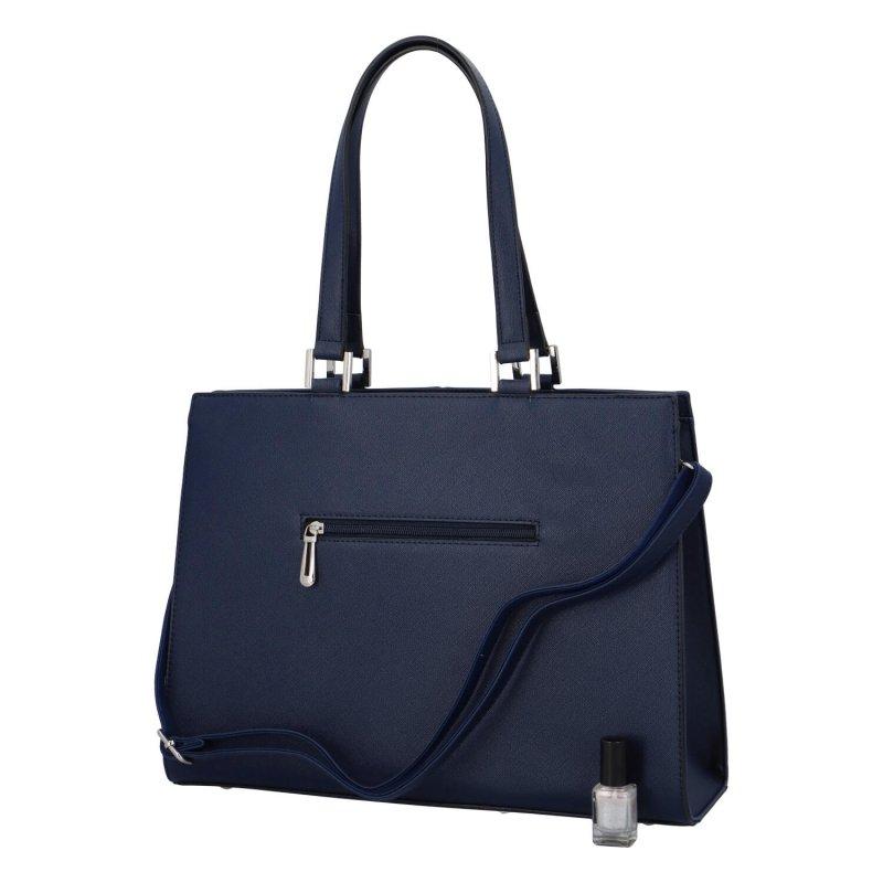 Dámská koženková kabelka Eiliey, modrá