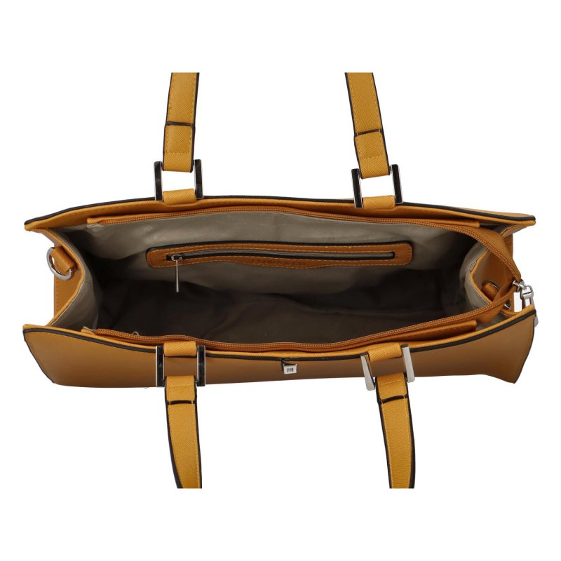Dámská koženková kabelka Eiliey, hořčicová