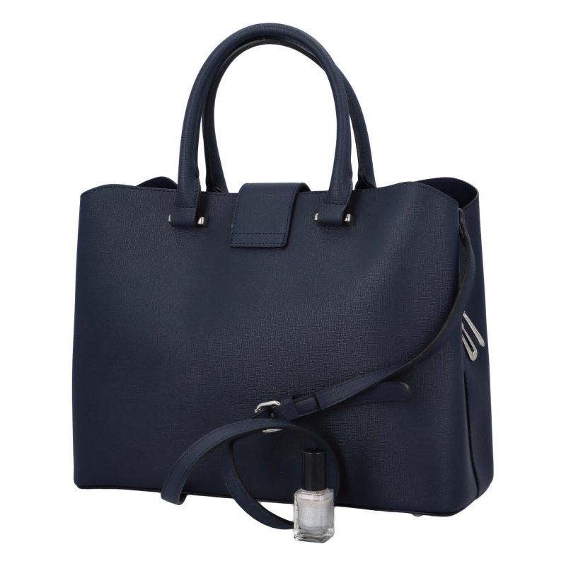 Dámská koženková kabelka May, modrá