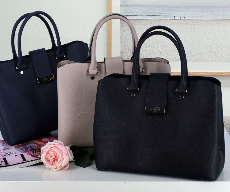 Dámská koženková kabelka May, černá