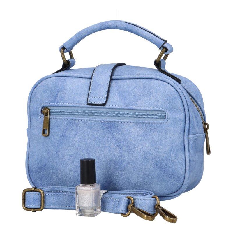 Krásná koženková crossbody kabelka Espaňa, modrá