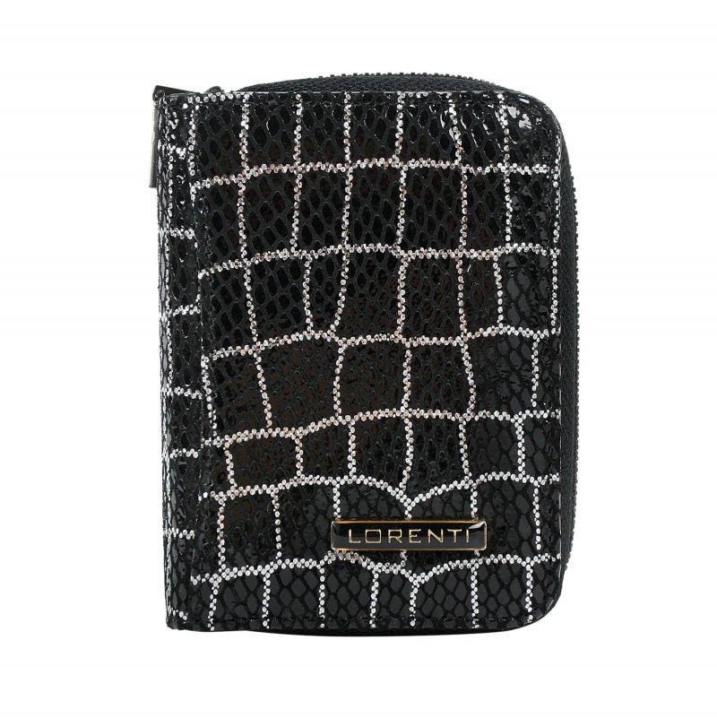 Dámská kožená peněženka Silvija croco, černá