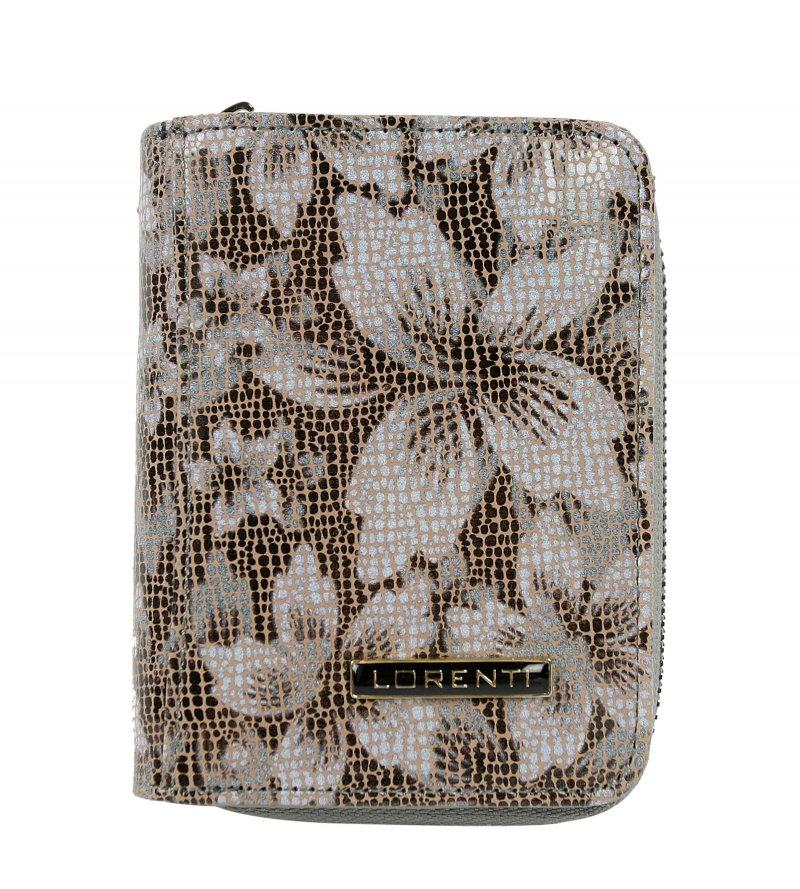 Dámská kožená peněženka Flora, hnědá