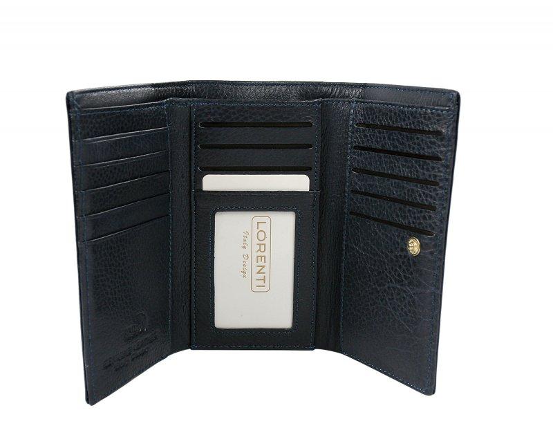 Dámská kožená peněženka Jasminka, modrá