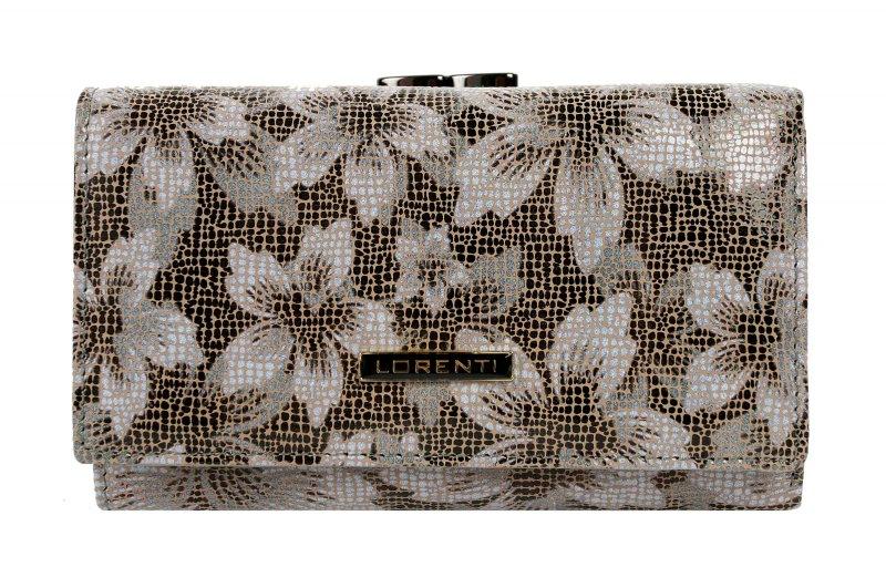 Dámská kožená peněženka Bella Flora, hnědá