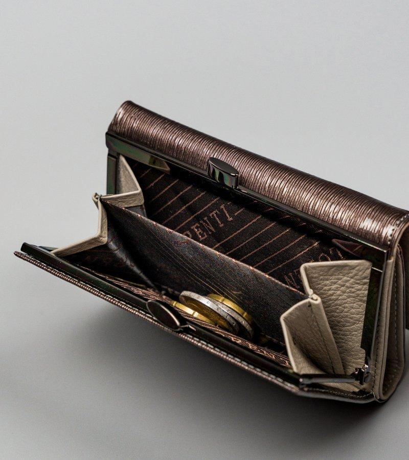 Stylová kožená peněženka Grace, šedá