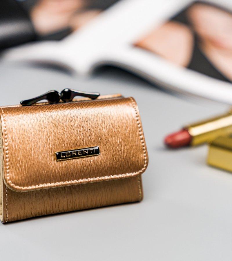 Krásná malá kožená peněženka Majk, zlatá