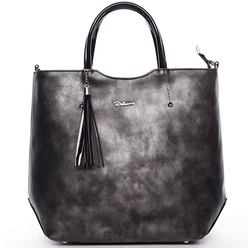 Atraktivní praktická kabelka Jaden, šedá