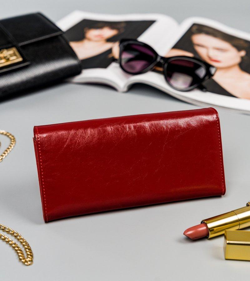 Velká kožená peněženka Deni, červená