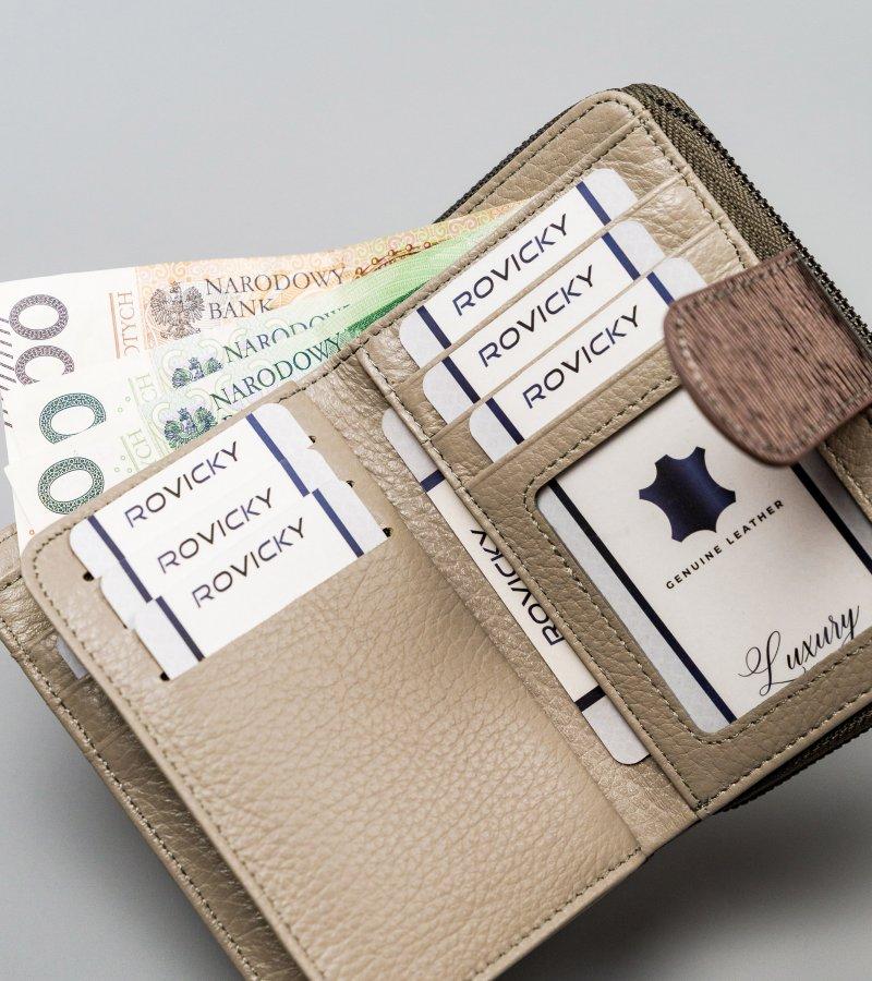 Praktická dámská peněženka Lorenzo se zápinkou, stříbrná