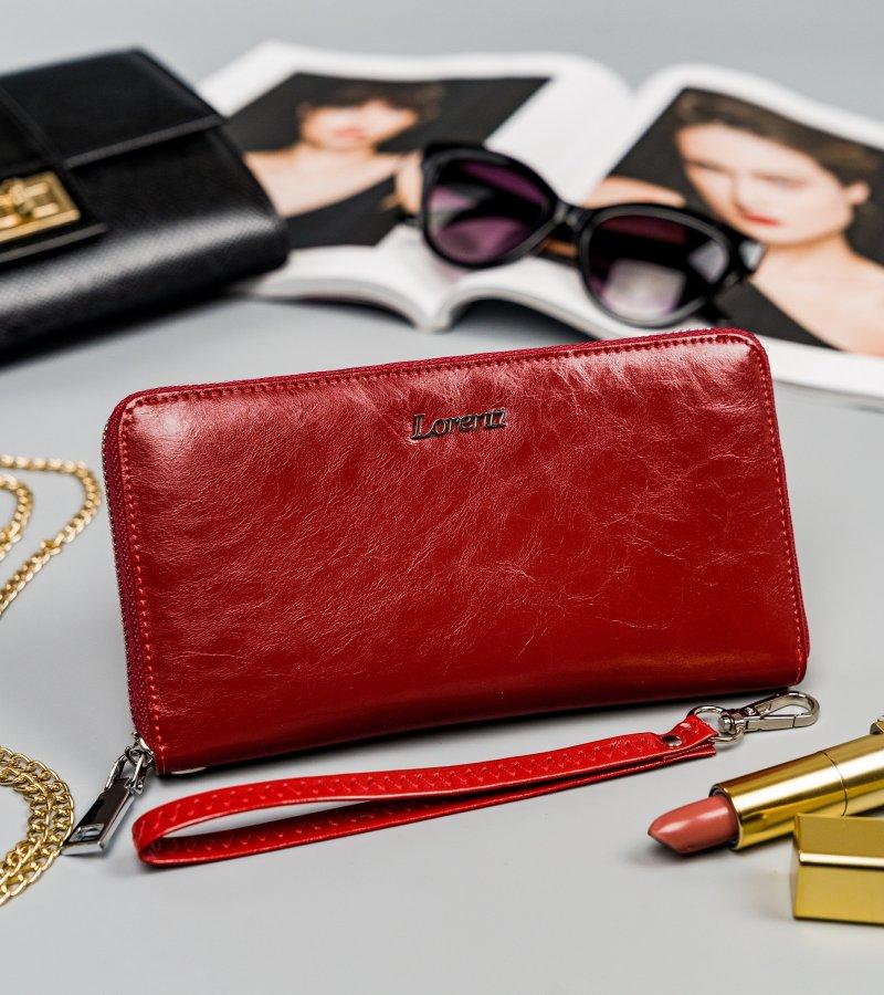 Kožená dámská peněženka Pietro, červená