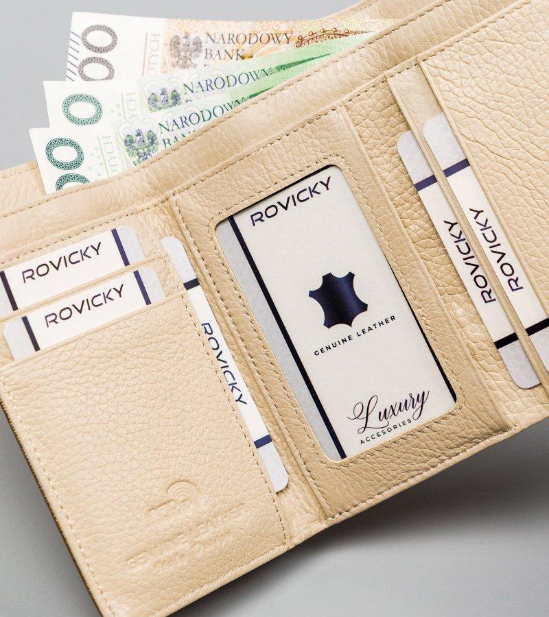 Módní kožená peněženka Sadya, zlatá
