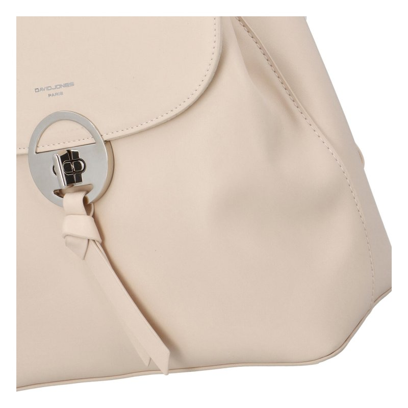 Módní koženkový batůžek Poli, béžový