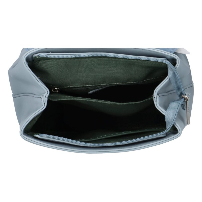 Módní koženkový batůžek Poli, světle modrý