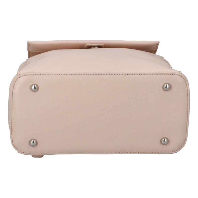 Stylový koženkový batůžek Niki, růžový
