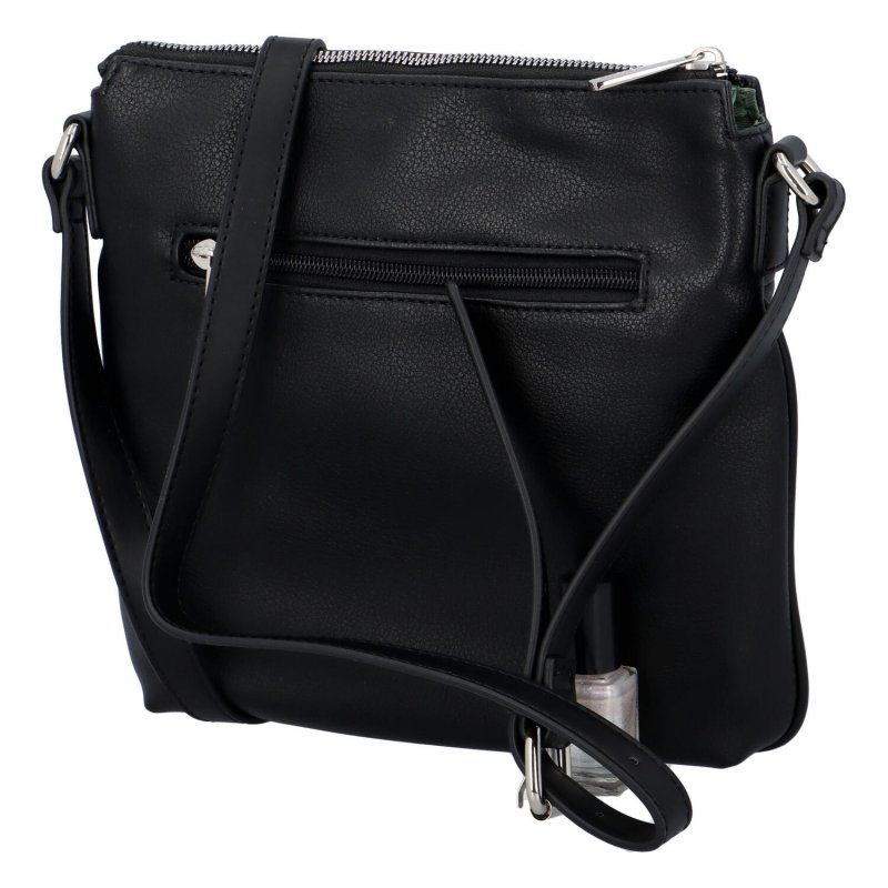 Jednoduchá dámská crossbody kabelka Erné, černá