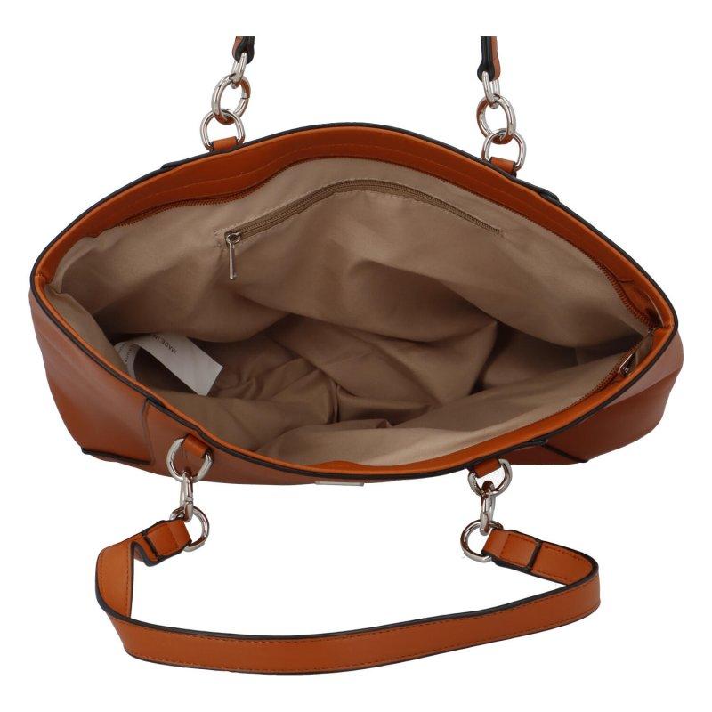 Dámská koženková kabelka přes rameno Ola Nicholas, hnědá