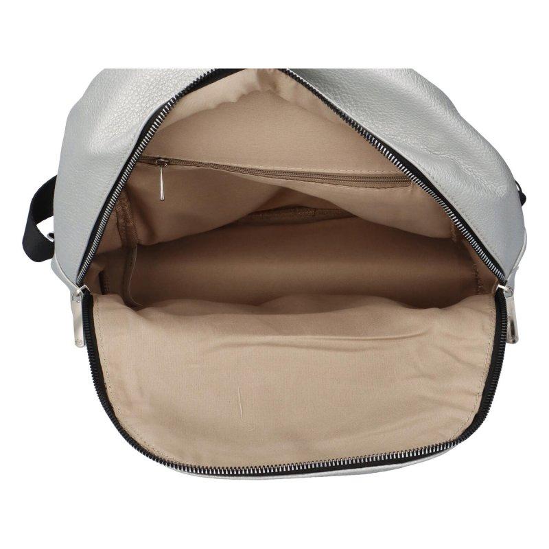 Trendy městský batůžek Tobi, stříbrný