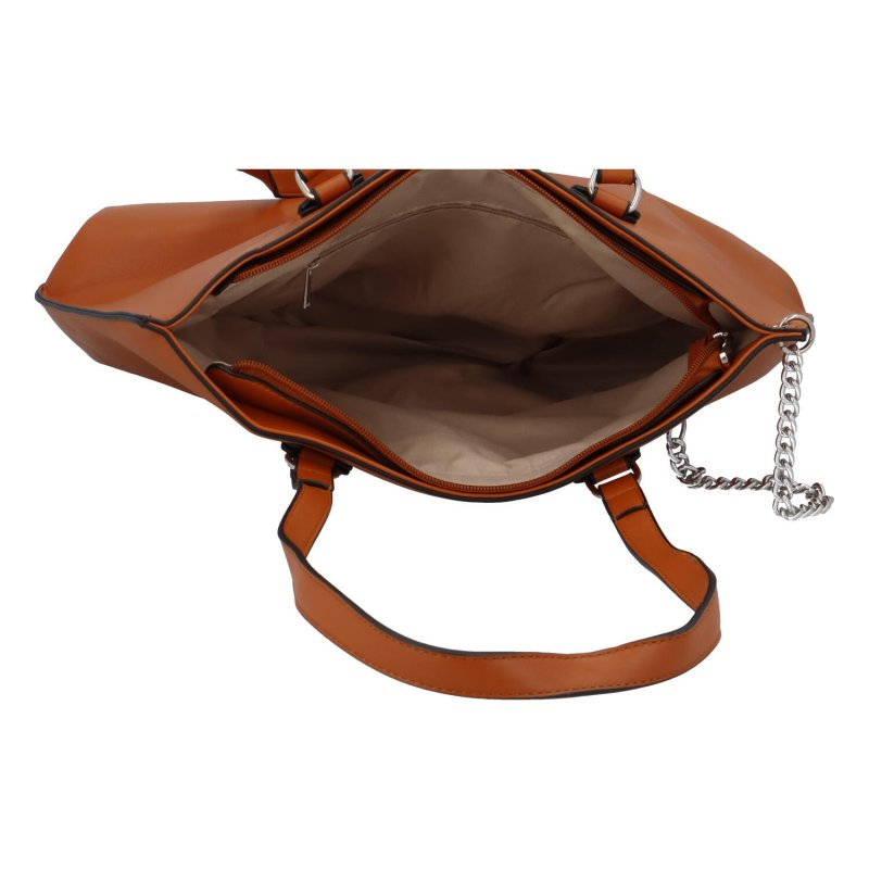 Dámská koženková kabelka Ella, hnědá