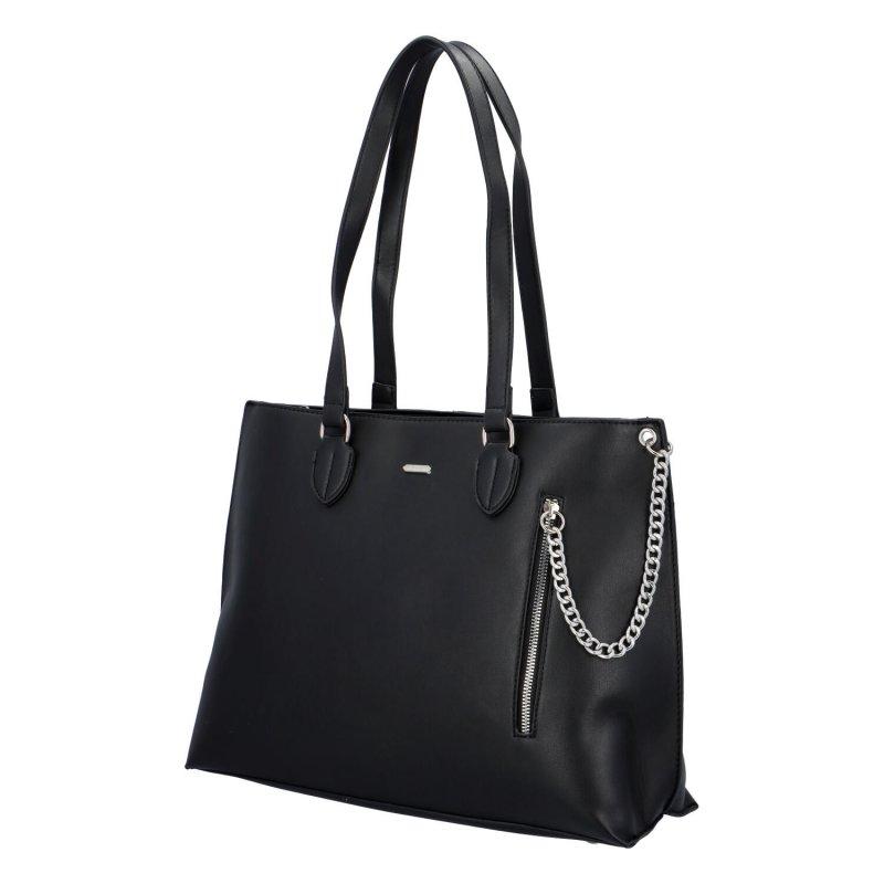 Dámská koženková kabelka Ella, černá