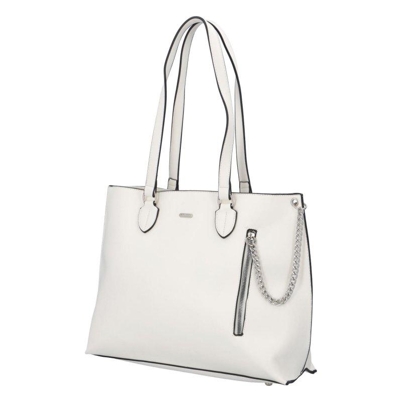 Dámská koženková kabelka Ella,  bílá