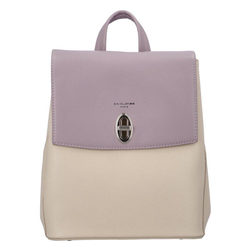 Stylový koženkový batůžek Pincio, fialkový