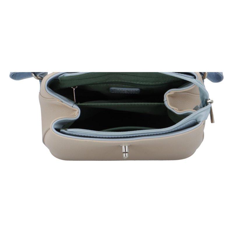 Stylový koženkový batůžek Pincio, světle modrý