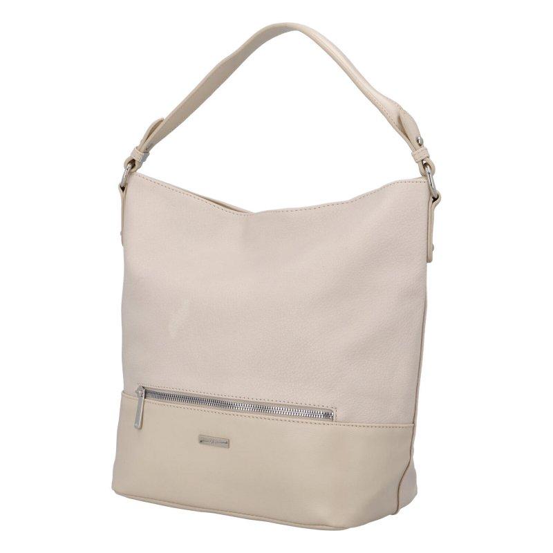 Trendy prostorná kabelka Julia, béžová