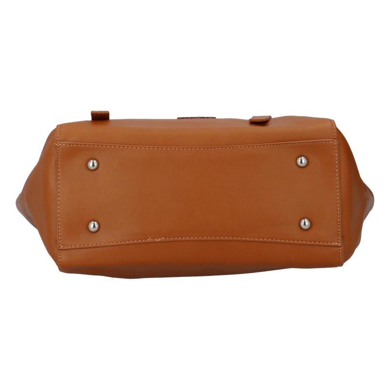 Módní dámská kabelka s mašlí Vittoria, hnědá