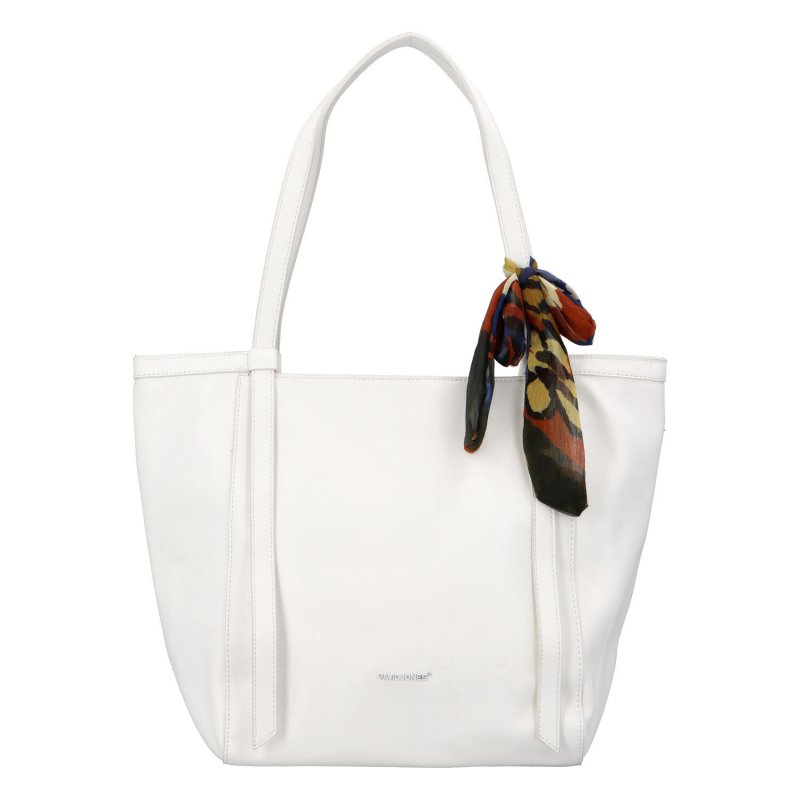 Módní dámská kabelka s mašlí Vittoria, bílá