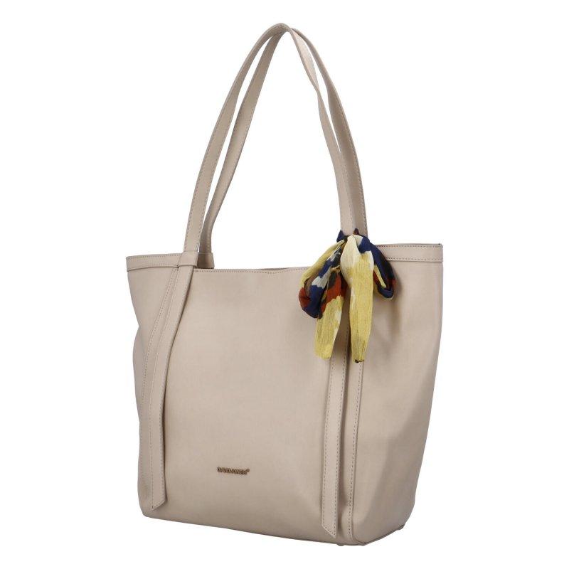 Módní dámská kabelka s mašlí Vittoria, šedá