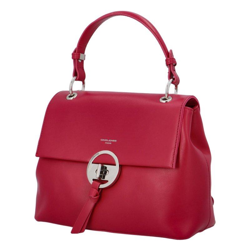 Trendová dámská koženková kabelka Isidora, fuchsia