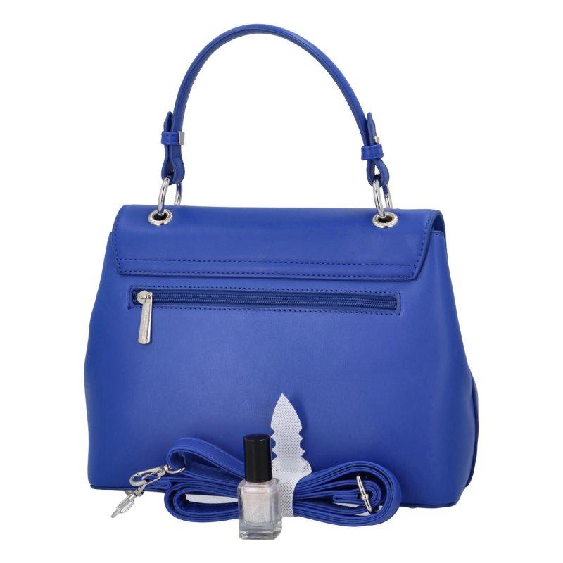 Trendová dámská koženková kabelka Isidora, modrá