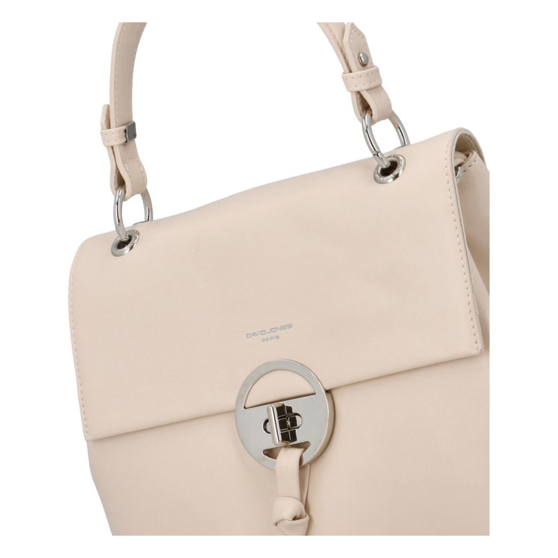 Trendová dámská koženková kabelka Isidora, béžová
