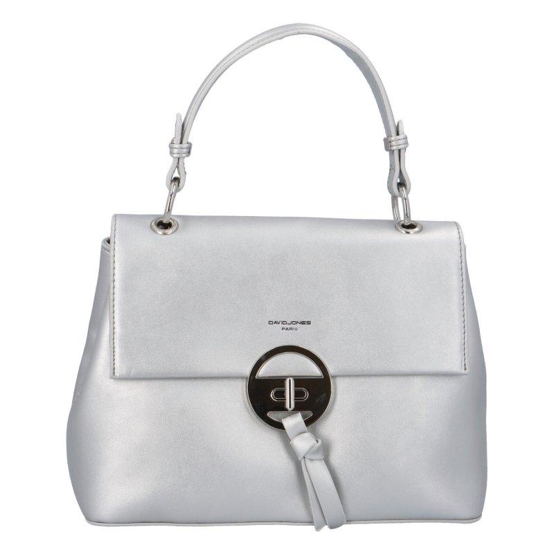 Trendová dámská koženková kabelka Isidora, stříbrná