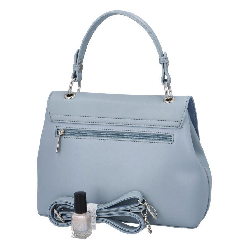 Trendová dámská koženková kabelka Isidora, světle modrá