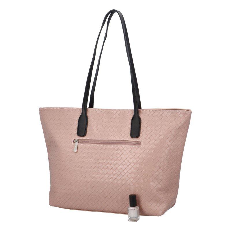 Dámská koženková kabelka Lovely Lilly, růžová