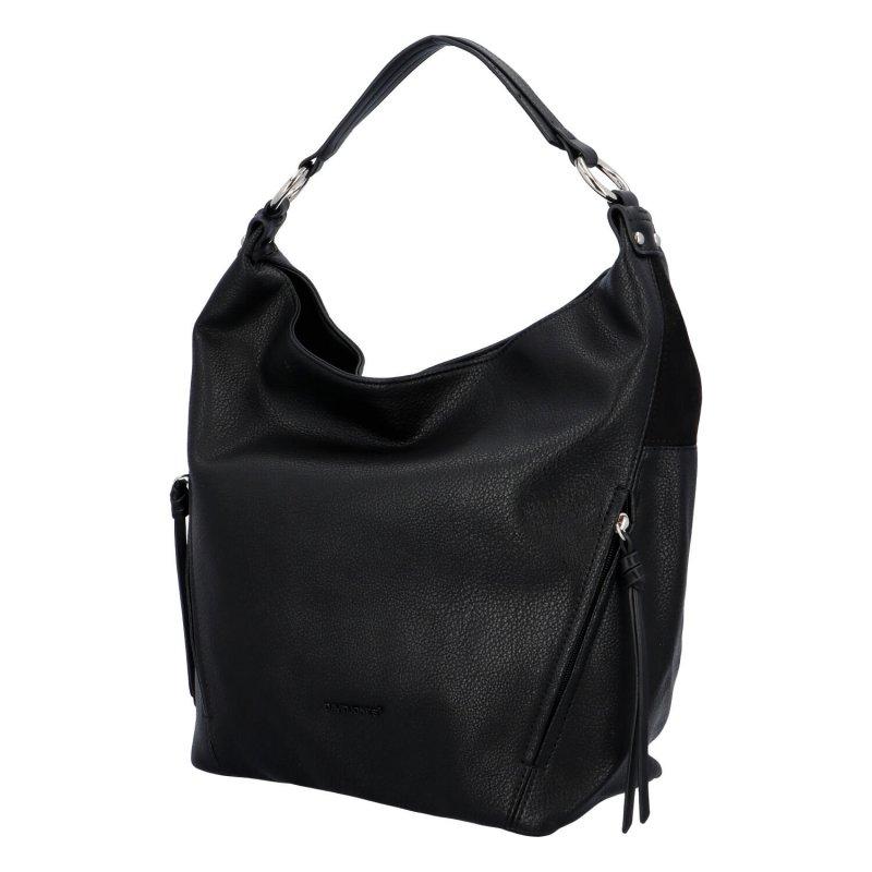 Stylová dámská koženková kabelka Hanka, černá