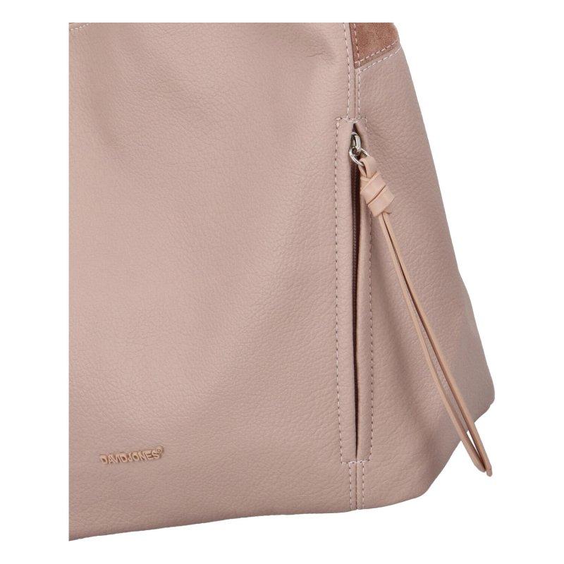 Stylová dámská koženková kabelka Hanka, růžová