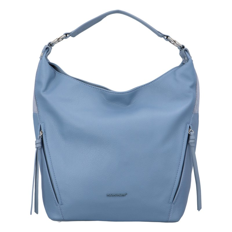 Stylová dámská koženková kabelka Hanka, světle modrá