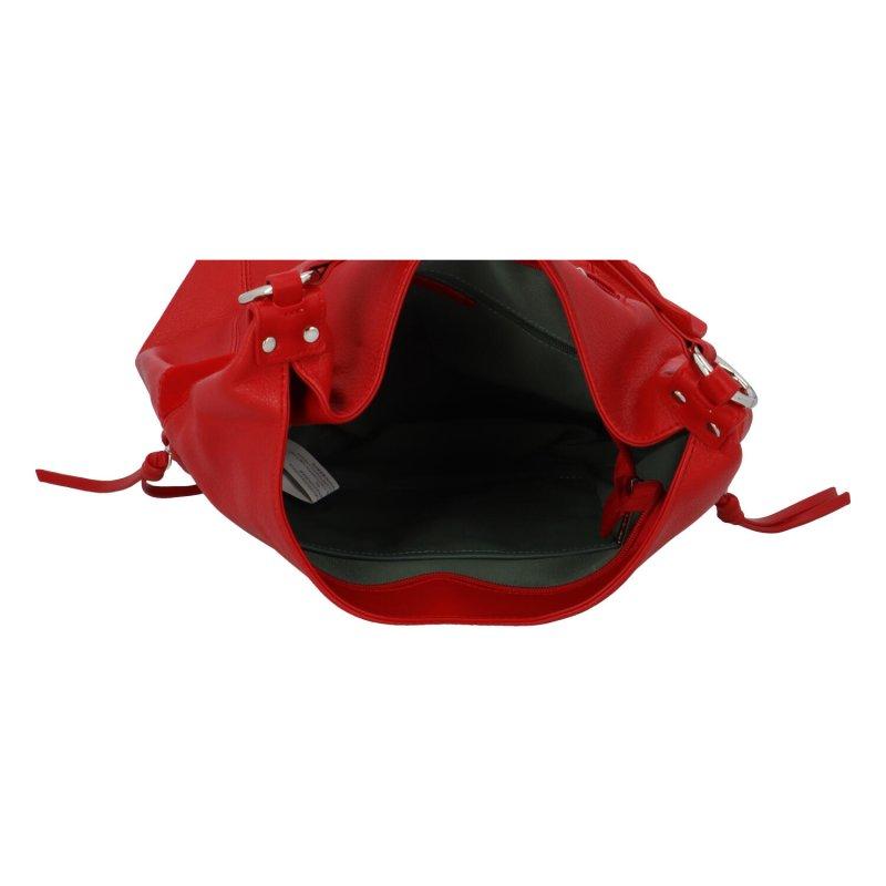 Stylová dámská koženková kabelka Hanka, červená