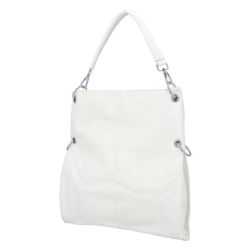 Krásná prostorná kabelka Fiona, bílá