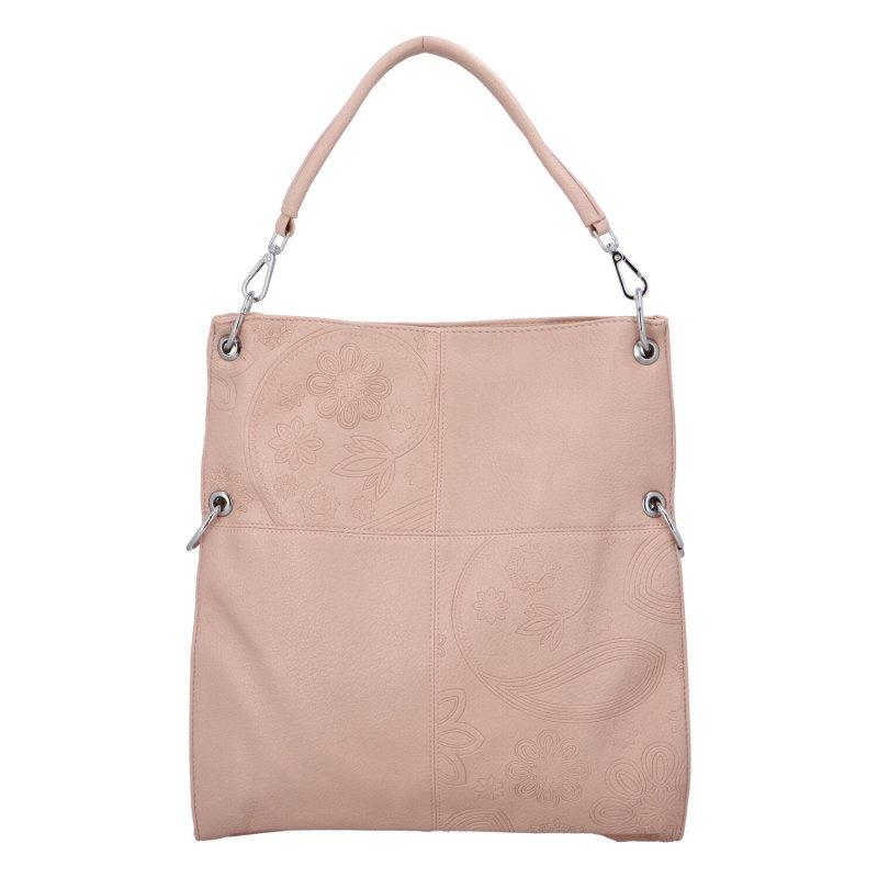 Krásná prostorná kabelka Fiona, růžová