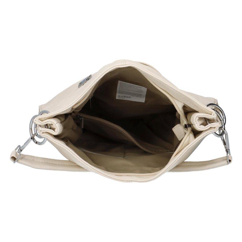 Krásná prostorná kabelka Fiona, béžová