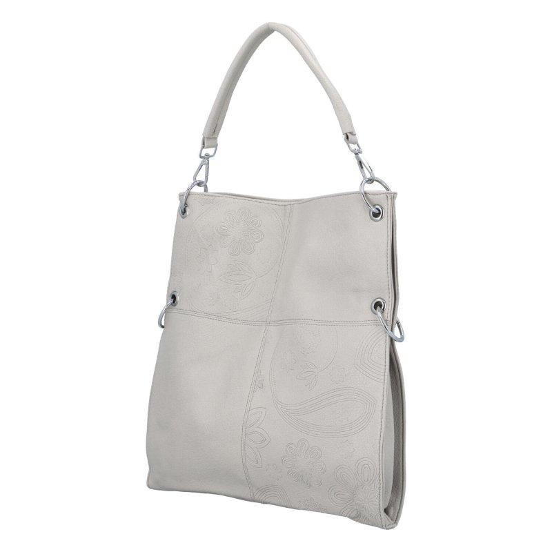 Krásná prostorná kabelka Fiona, šedá