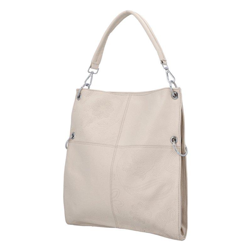 Krásná prostorná kabelka Fiona, apricot