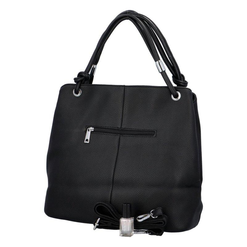 Stylová dámská kabelka se zipy Stefan, černá
