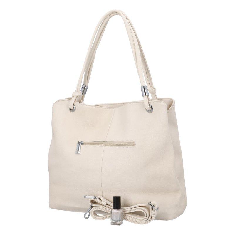 Stylová dámská kabelka se zipy Stefan, apricot