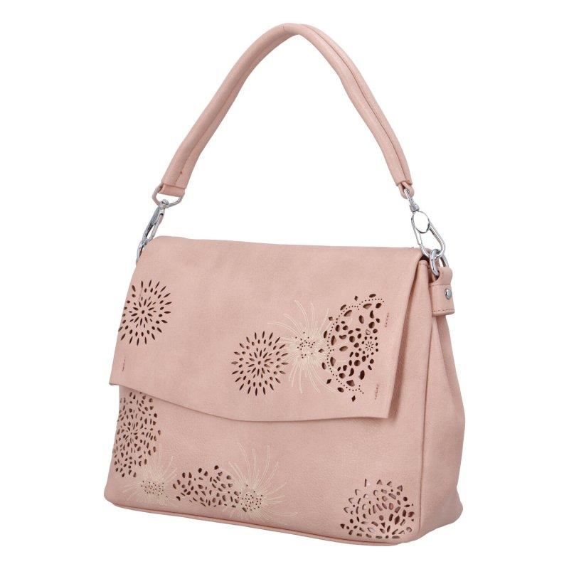 Krásná kabelka do ruky Flora BB, růžová